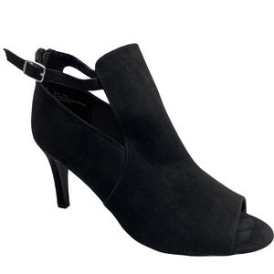 Torrid Heeled Booties peep toe with cut out sides